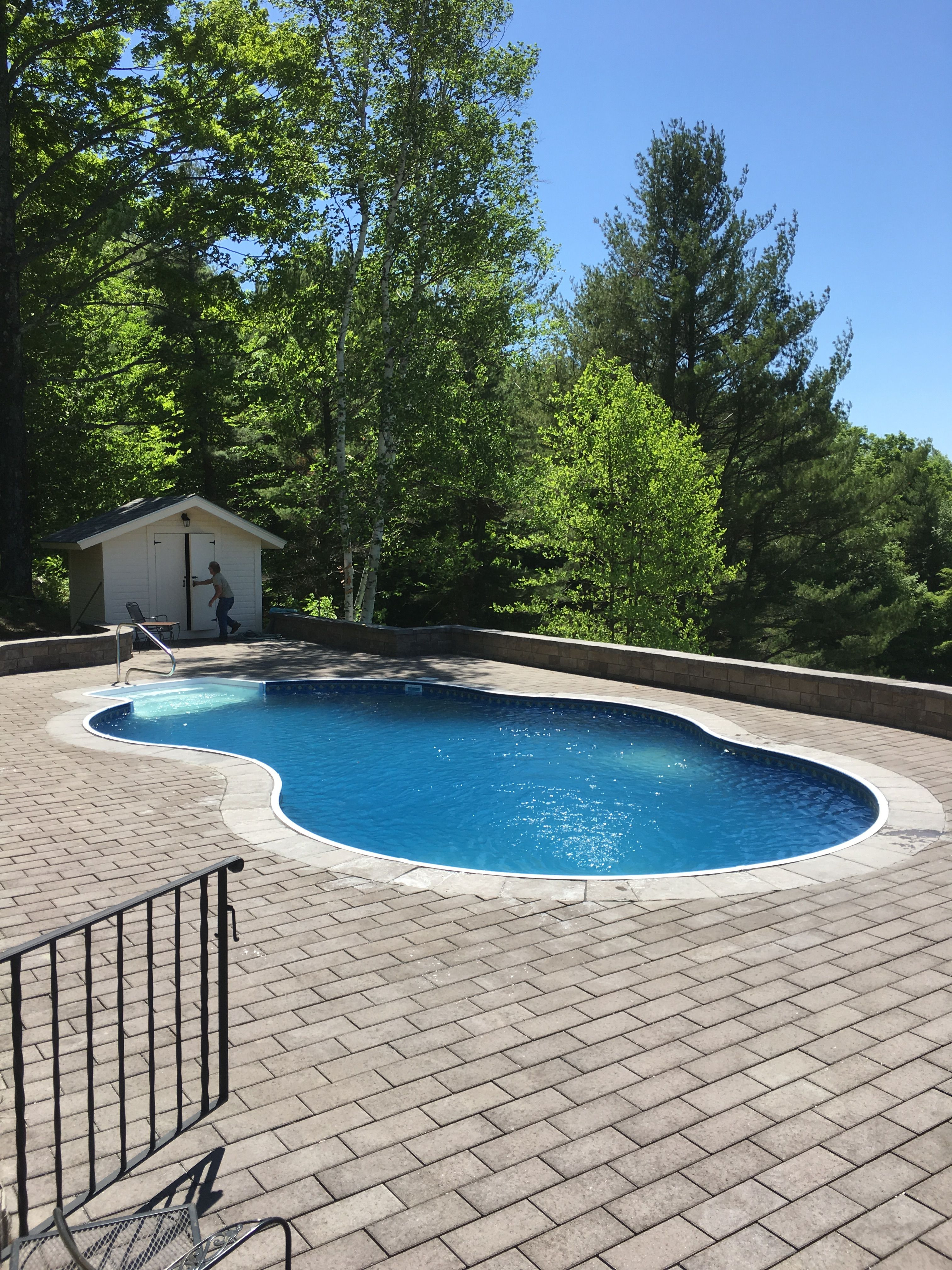 Radiant Metric Pool Cost Awesome Radiant Inground Freeform with Walk In Steps