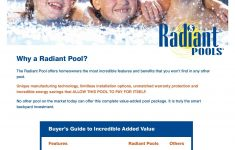Radiant Metric Pool Cost Awesome Radiant Pools Metric Series Buyers Guide Line