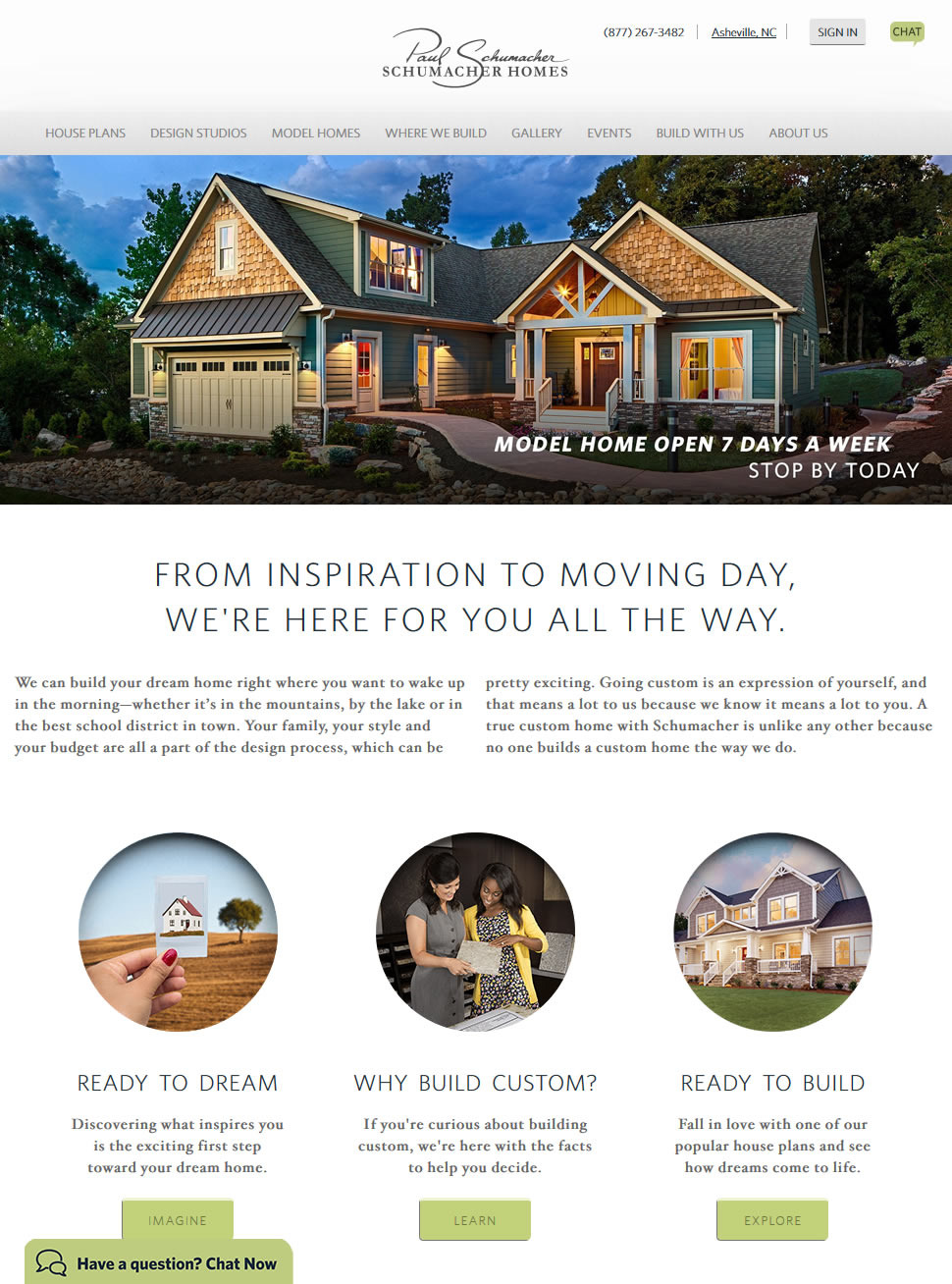 Schumacher Homes website