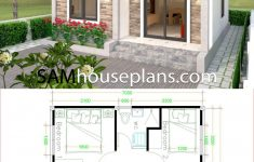 Simple House Plans With Pictures Unique Simple House Design 6x7 With 2 Bedrooms Hip Roof