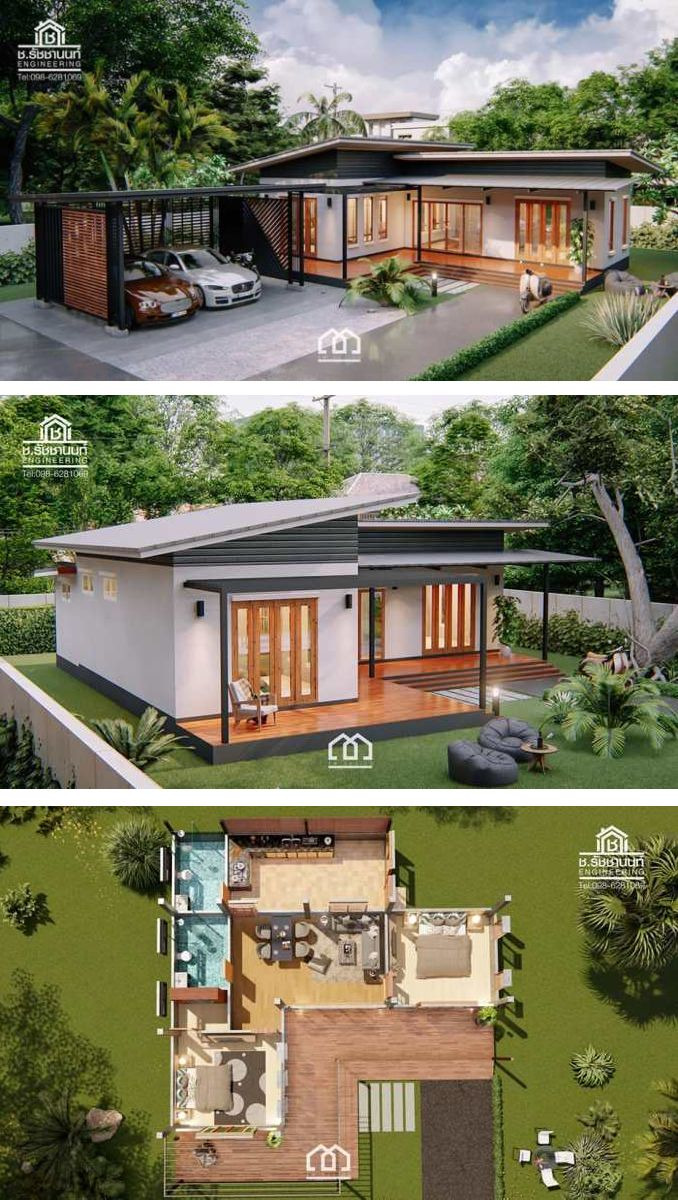 Single Storey Modern House Design Lovely Modern Villa Style Single Storey House with Two Bedrooms