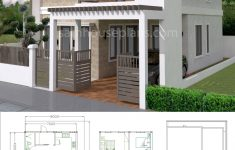 Small Adobe House Plans Elegant House Plans 7x12m With 4 Bedrooms Plot 8x15 In 2020