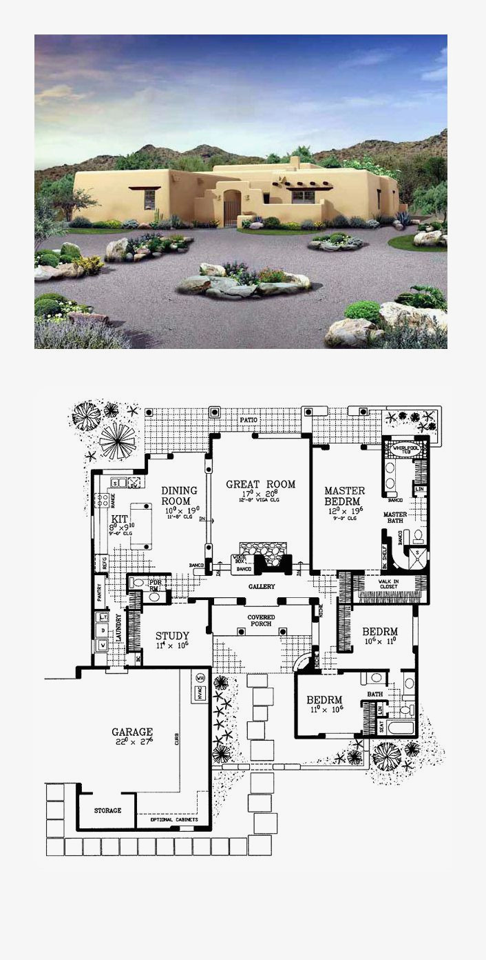 small adobe house plans luxury adobe style house plan with icf walls 6793mg