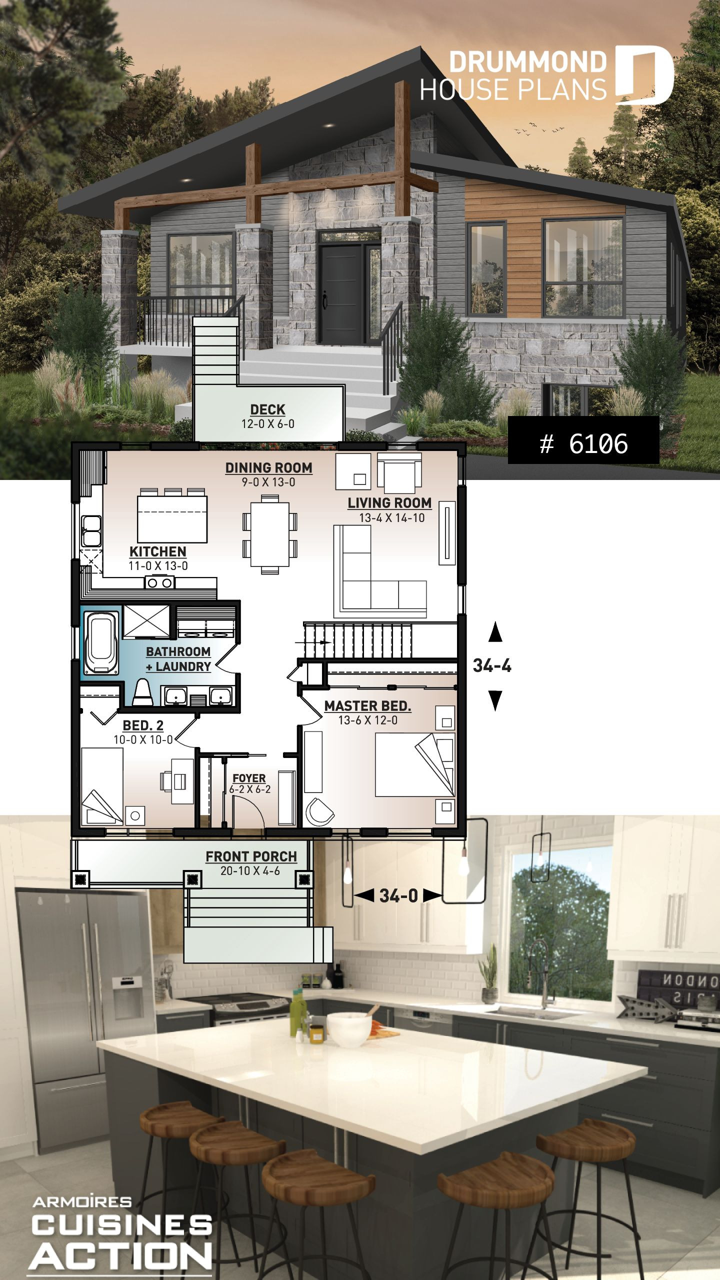 Small Efficient House Plans Inspirational House Plan Aika No 6106