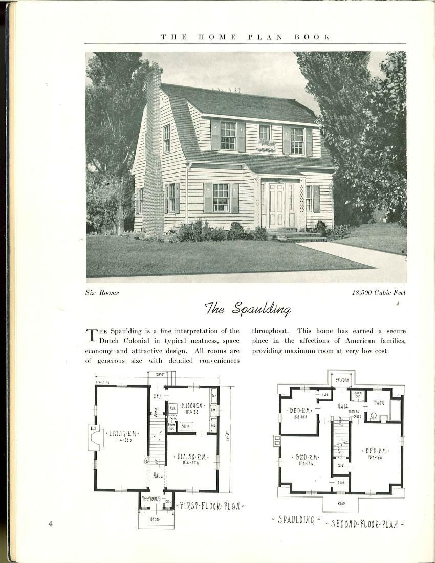 Small Gambrel House Plans Luxury the Home Plan Book 1939
