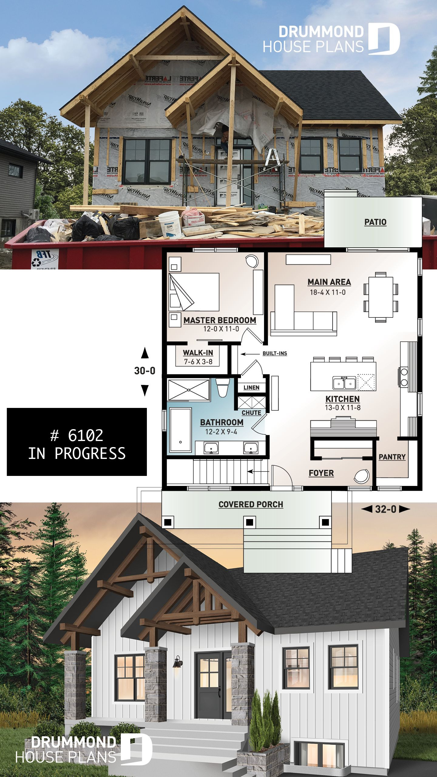 Small House Plans One Story Beautiful House Plan nordika No 6102 with Images