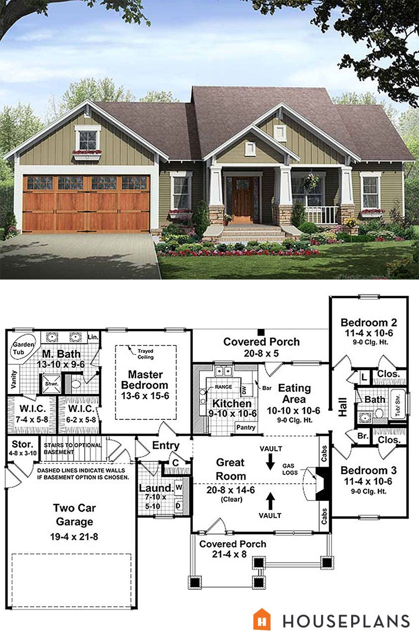 Small House Plans with 2 Master Suites Beautiful Craftsman Style House Plan 3 Beds 2 Baths 1509 Sq Ft Plan