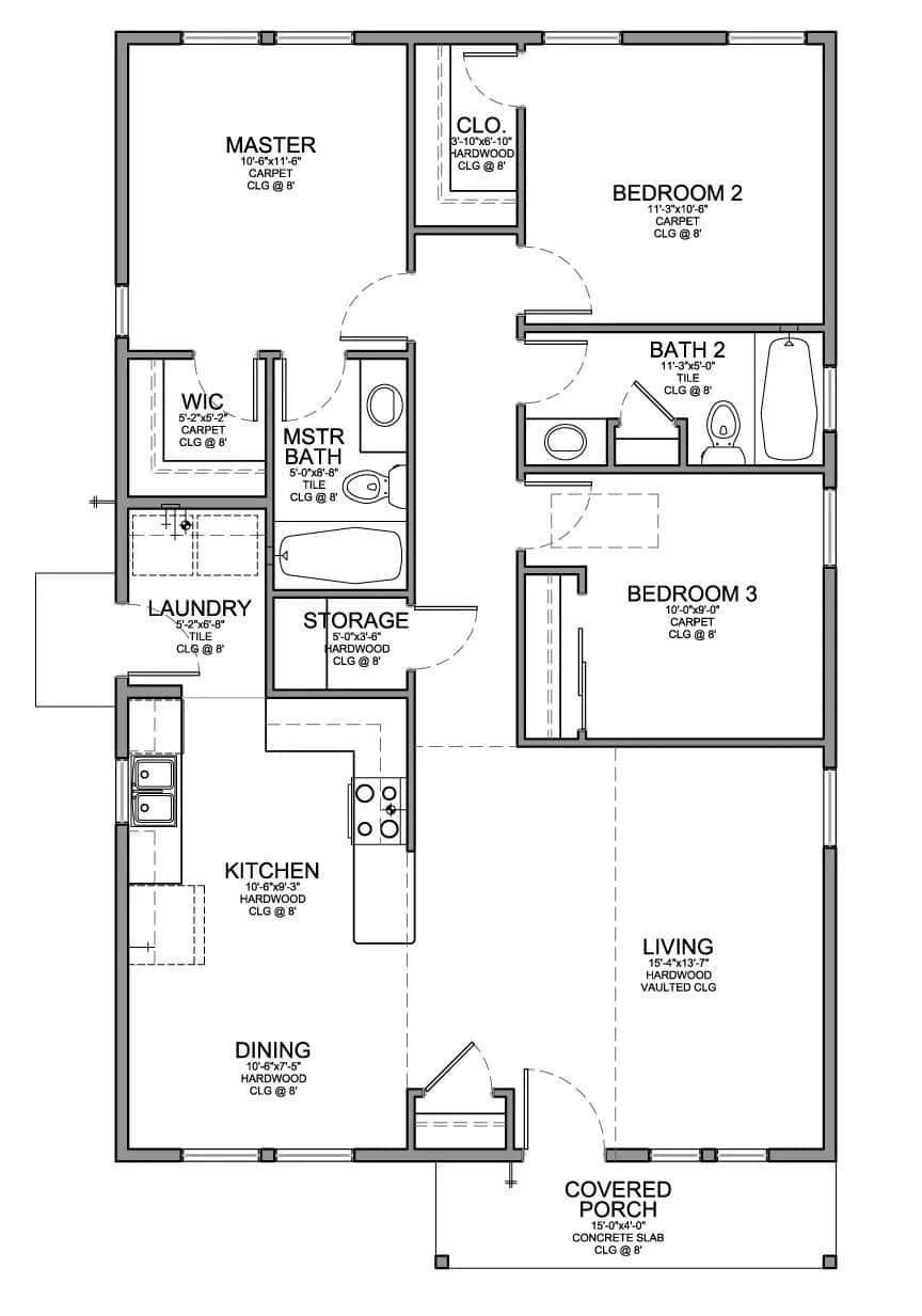 Small Low Cost House Plans Best Of Low Bud Modern 3 Bedroom House Design ▷ Tuko