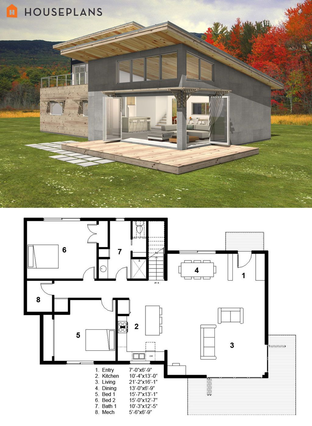 Small Modern Cottage House Plans Best Of Small Modern Cabin House Plan by Freegreen