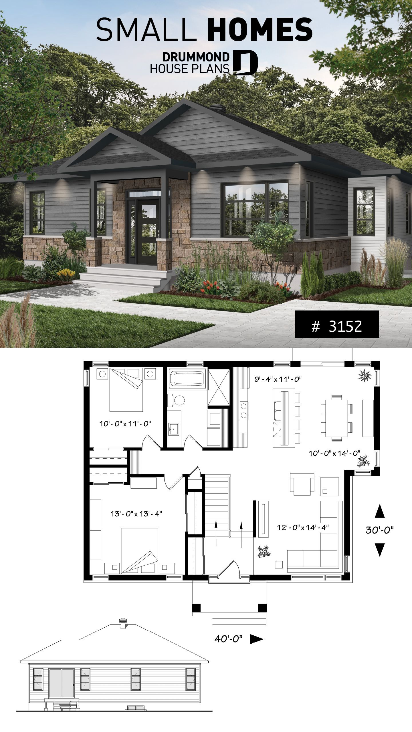 Small Modern Cottage House Plans Fresh House Plan Ripley No 3152 Bh
