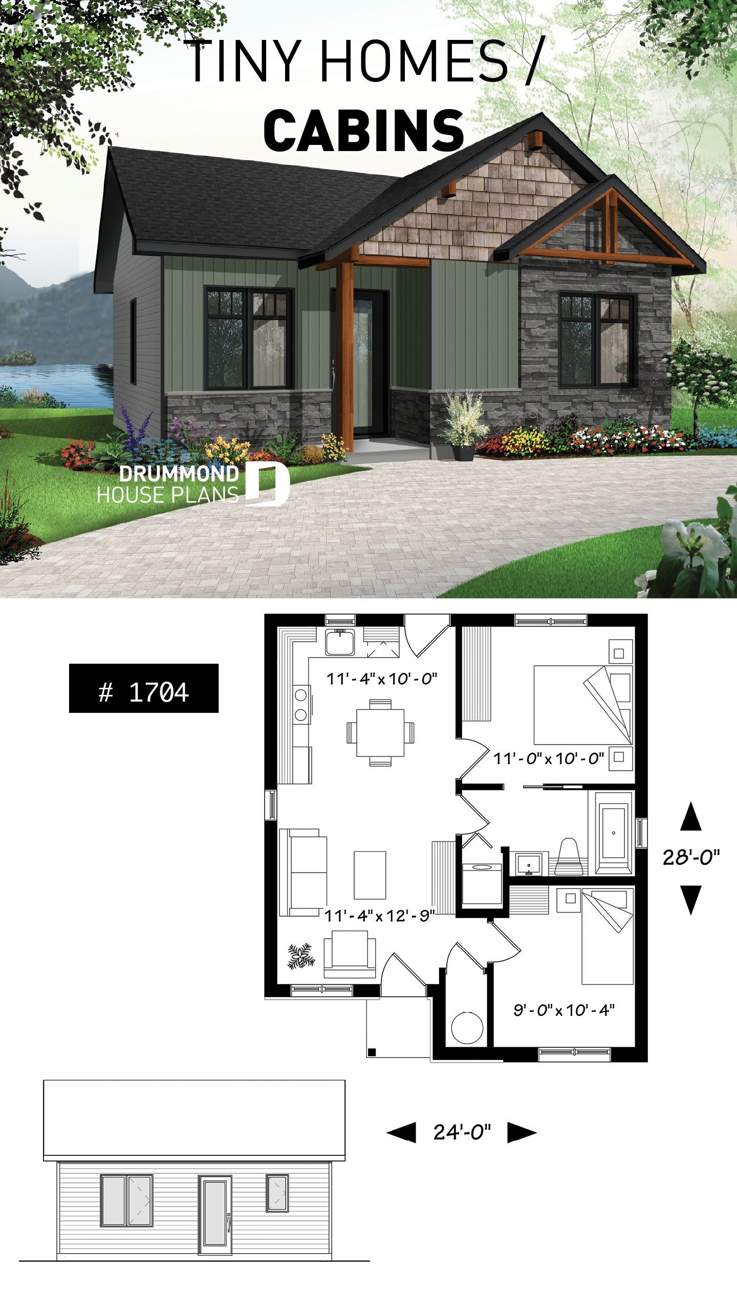 Small Modern Cottage House Plans Luxury House Plan Foster No 1704