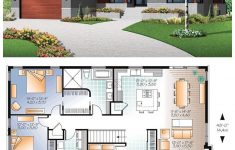 Small Modern House Plans One Floor Best Of Small House With Modern Simple Lines 1676 Total Living Area