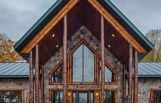 Stone And Log House Plans Beautiful Golden Eagle Log Homes — Beautiful Log Support Posts Accent