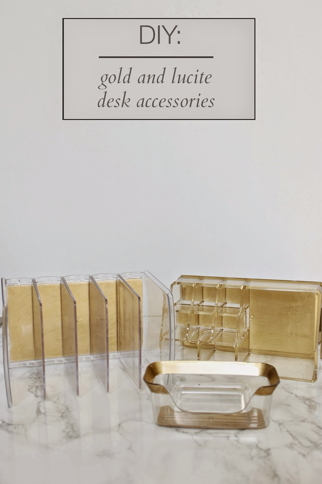 diy gold and lucite desk accessories 11