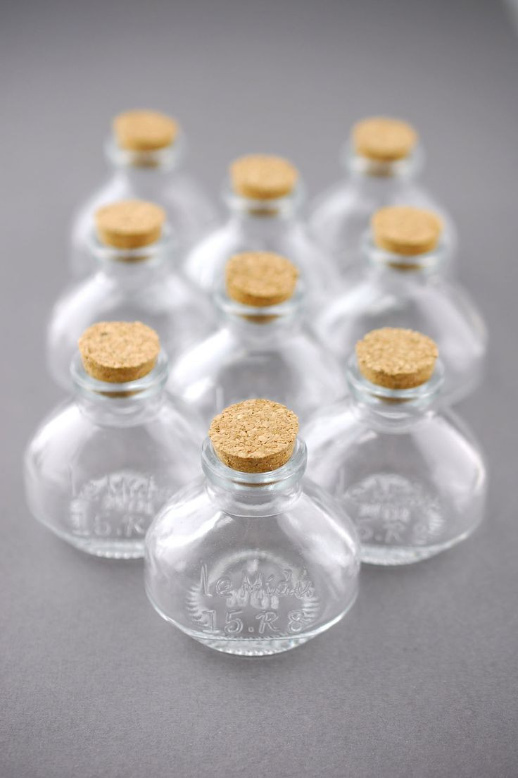 Tiny Glass Bottles with Corks Elegant Small Glass Bottles with Cork 40ml 2 25in Pack Of 10