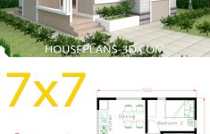 Tiny Little House Plans New Small House Design Plans 7x7 With 2 Bedrooms