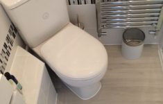 Upflush Toilet And Shower Luxury A Corner Wc With Concealed Saniflo To The Side There Is