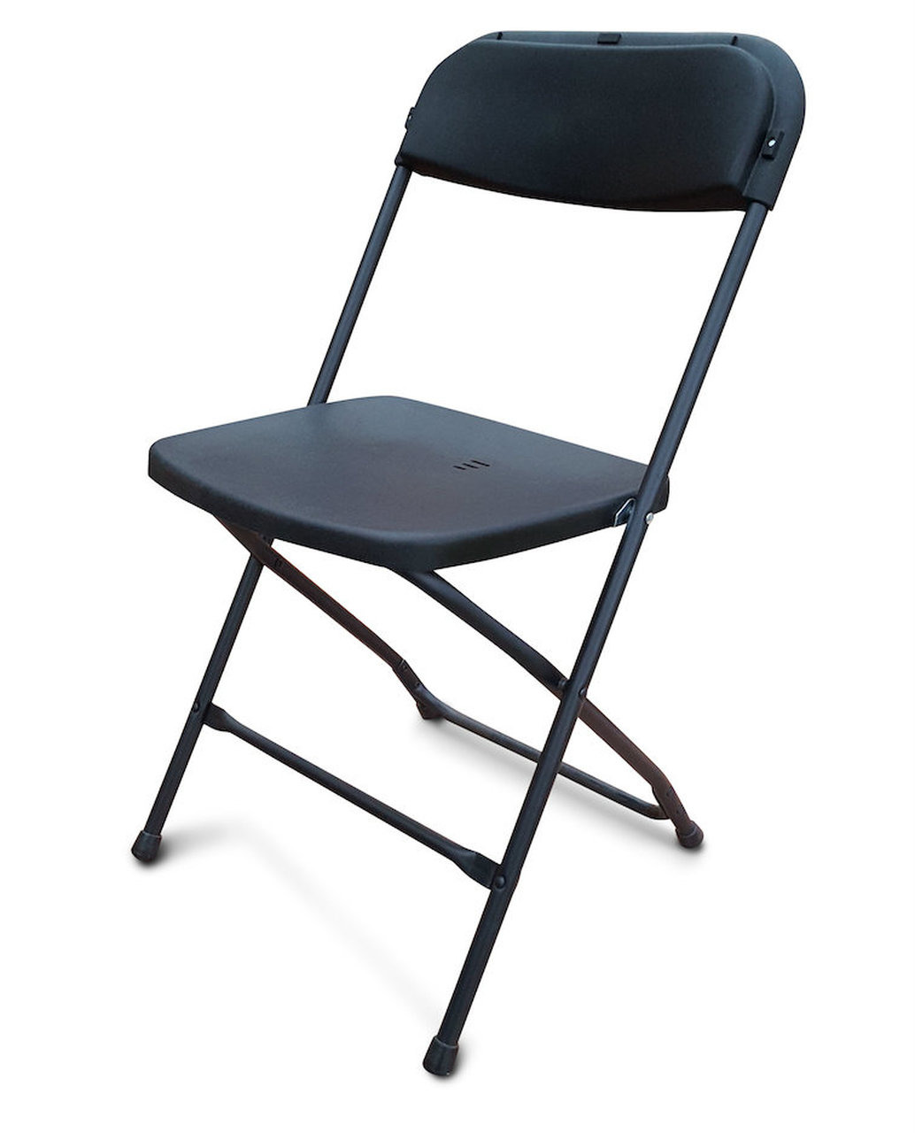Black Folding Plastic Chair Side 2 S
