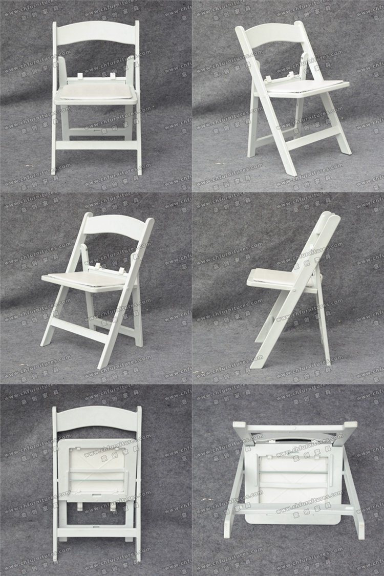 Yc F30 Wholesale White Plastic Resin Wimbledon Child Folding Chairs for Wedding