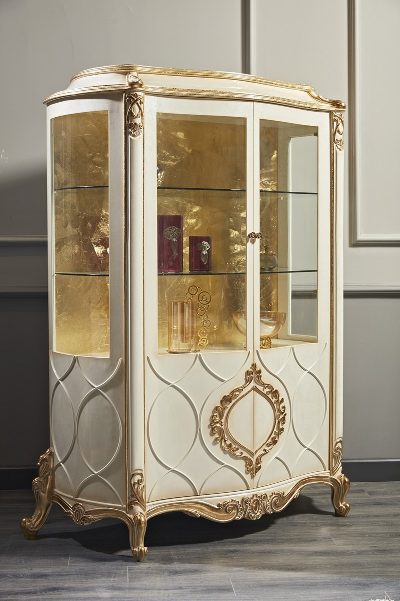 White and Gold Antique Furniture Inspirational Casa Padrino Luxury Baroque Display Cabinet White Antique