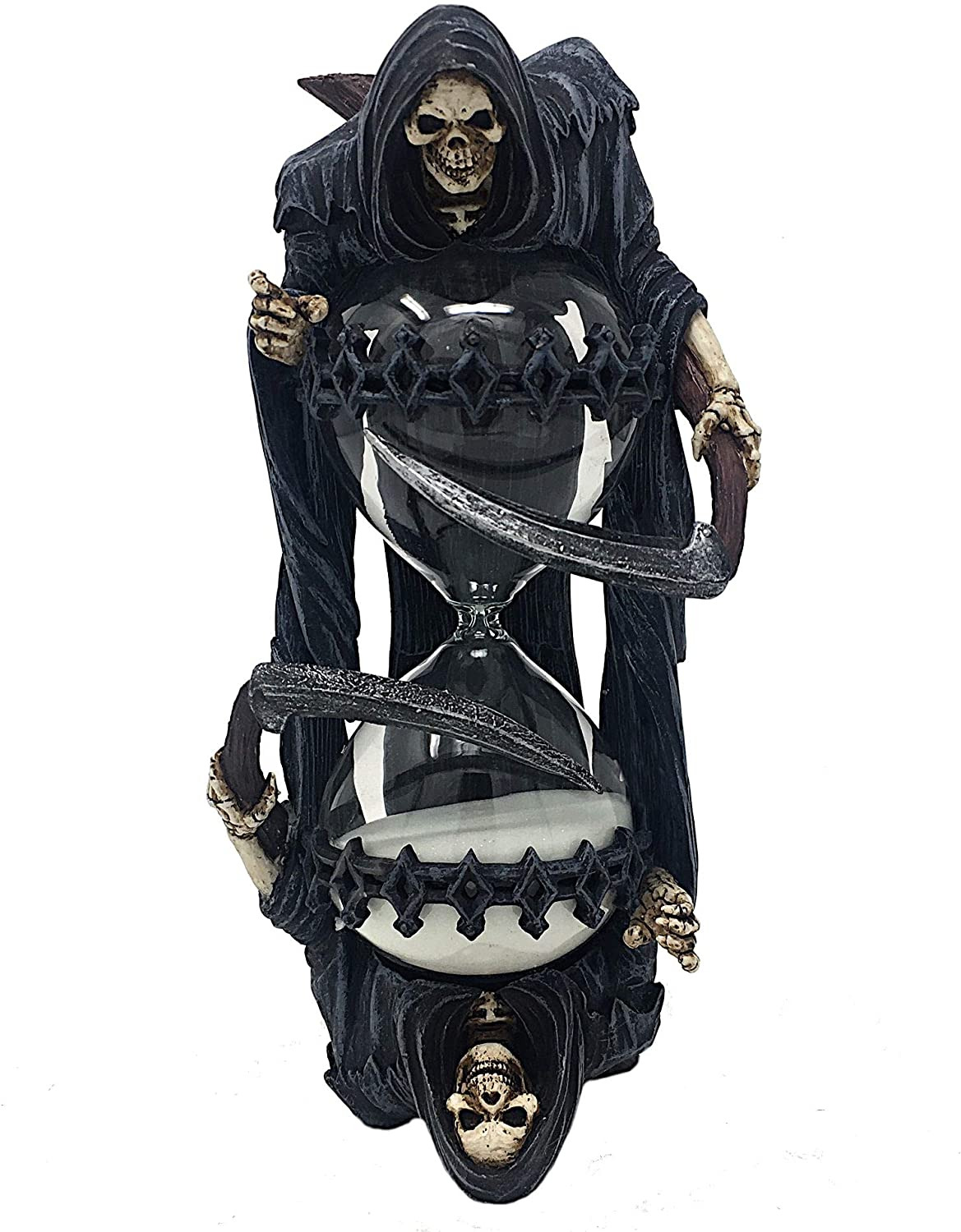 Wicked Hourglass Luxury Mayer Chess Hourglass Grim Reaper by Anne Stokes Clock