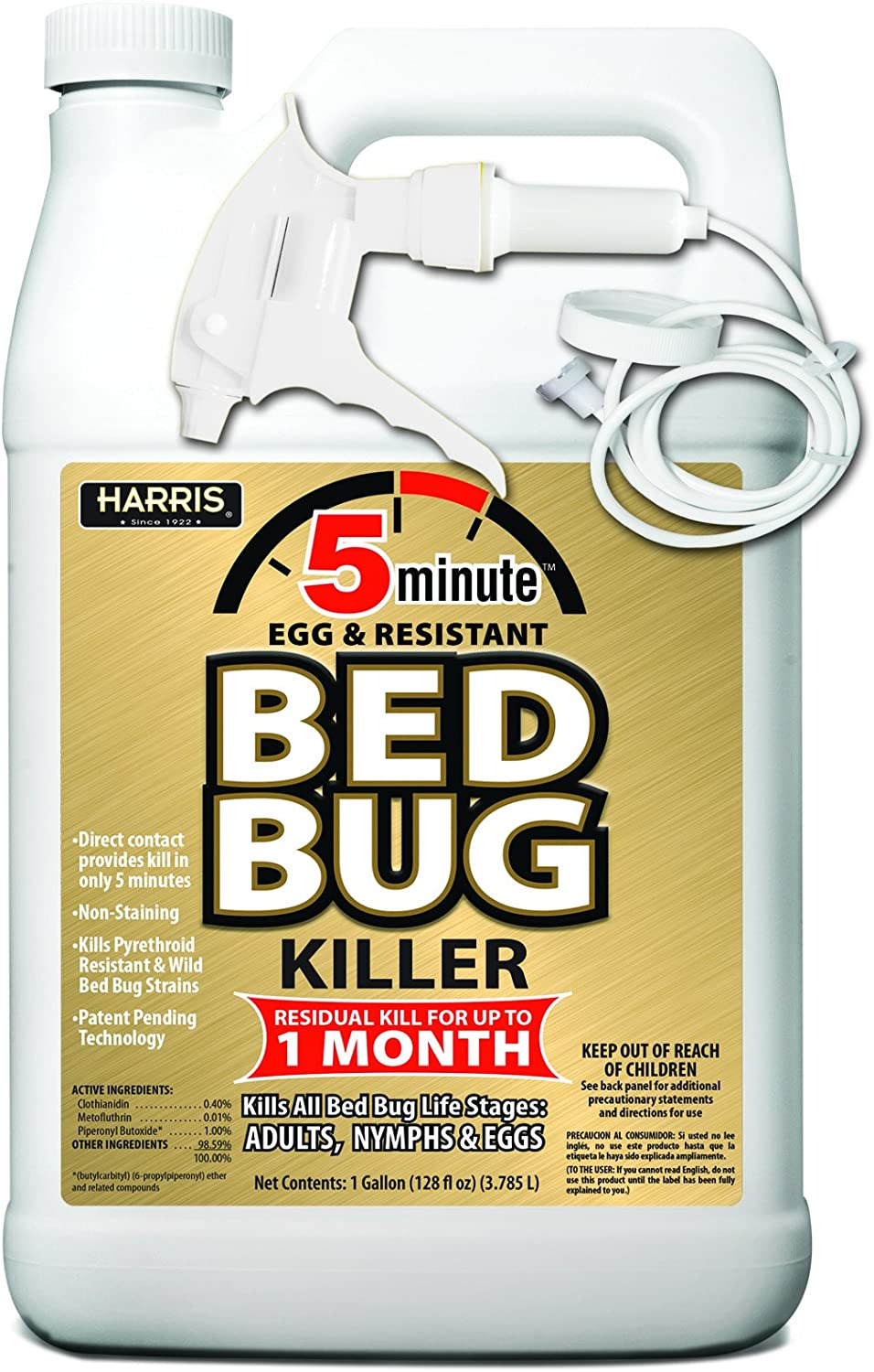 1 2 Gal Home Defense Bed Bug Best Of Harris 5 Minute Bed Bug Killer Odorless and Non Staining formula 128oz
