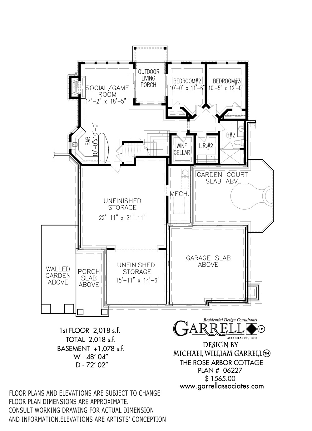 Rose Arbor Cottage House Plan 2nd floor plan