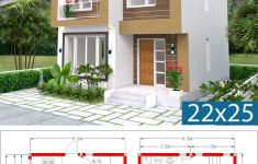 2 Storey Small House Design Inspirational Home Design Plan 6 5x7 5m 2 Bedrooms A2