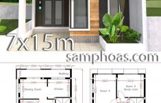 2 Storey Small House Design New Home Design Plan 7x15m With 5 Bedrooms Samphoas Plansearch