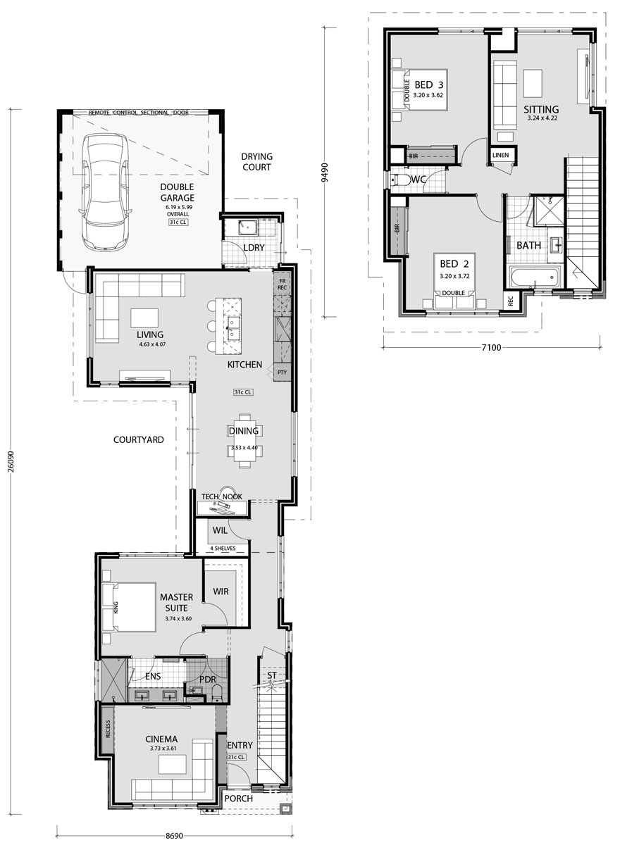 PindanHomes narrowlothomes Norfolk HomeDesign Floorplan2017