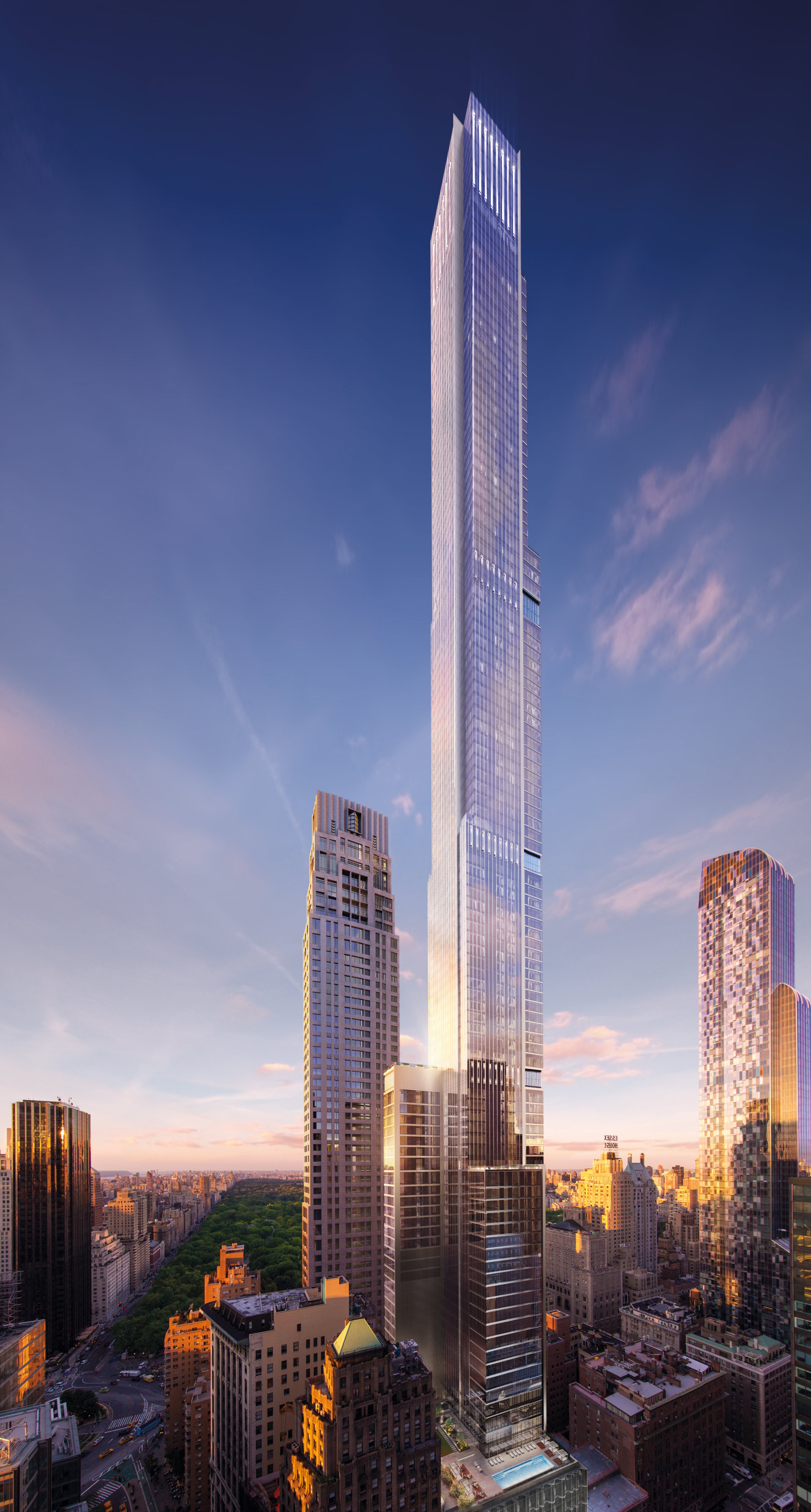 central park tower surpasses 432 park avenue to be e the tallest residential building in the western hemisphere