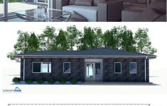 Affordable Home Designs To Build Elegant Small House Plan With Two Bedrooms And Spacious Living Room