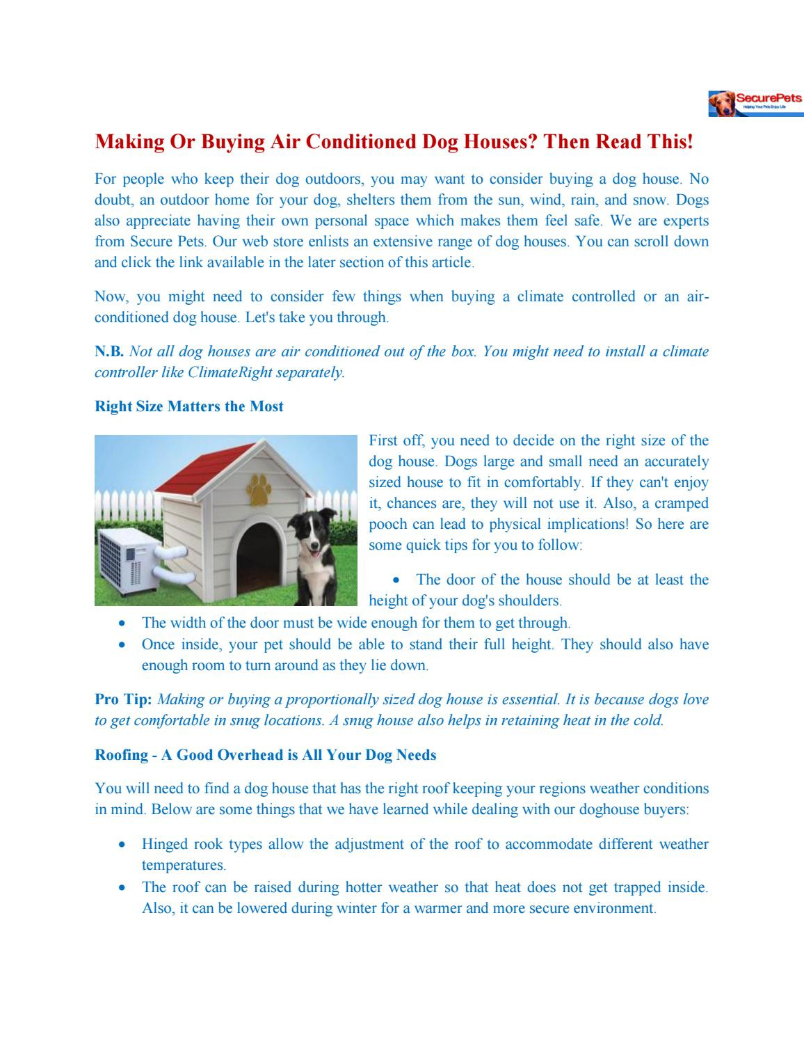 Air Conditioned Dog House Plans Lovely Making or Ing Air Conditioned Dog Houses then Read This