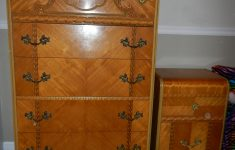 Antique Art Deco Bedroom Furniture Awesome 1947 Birch Art Deco Waterfall Bedroom Set For Sale