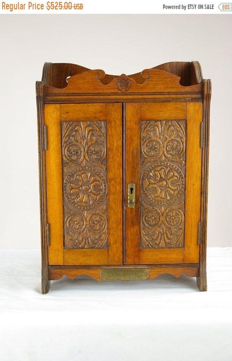 Antique Arts and Crafts Furniture for Sale New Back to School Sale Antique Oak Smokers Cabinet Antique Arts and Crafts Display Cabinet Scotland 1910s Antique Furniture B1376