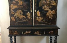 Antique Black Lacquer Furniture Beautiful Cabinet Chinoiserie In Black Lacquer Golden Lacquer Late