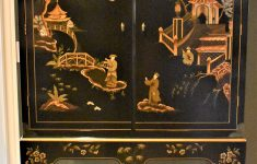 Antique Black Lacquer Furniture Lovely Vintage Baker Furniture Oriental Style Black Lacquer Cabinet Price Reduced