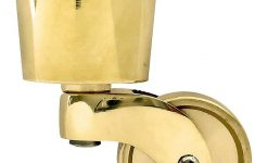 """Antique Brass Casters For Furniture Beautiful Solid Brass Round Cup Caster With 1 1 4"""" Brass Wheel"""