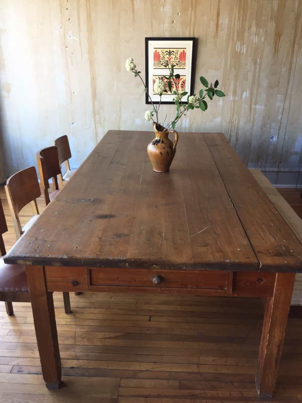 antique dining table … soldantique tuscan with pineapple legs double and chairs ebay room sets leg styles drop leaf leaves
