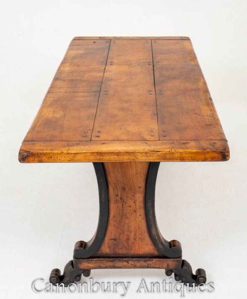 antique dining table adorable vintage legs styles room casters set details about french sycamore and ebony