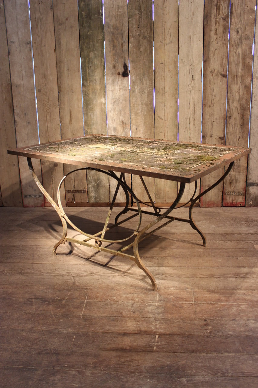 19th cent french garden table 33 1 refno