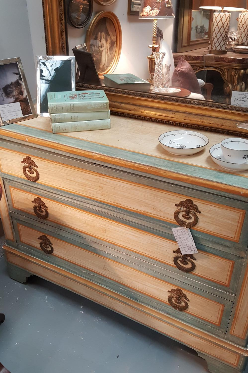 antique french painted chest of drawers main size3