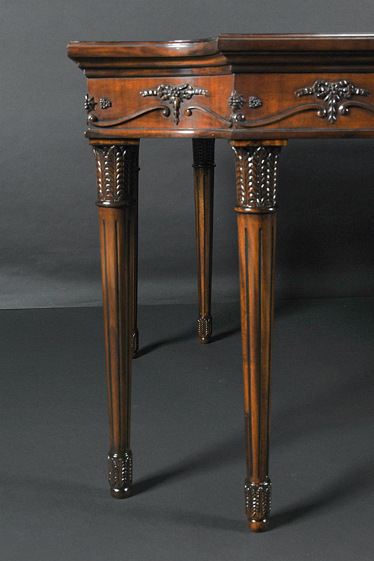 neoclassical mahogany dining room table m=0
