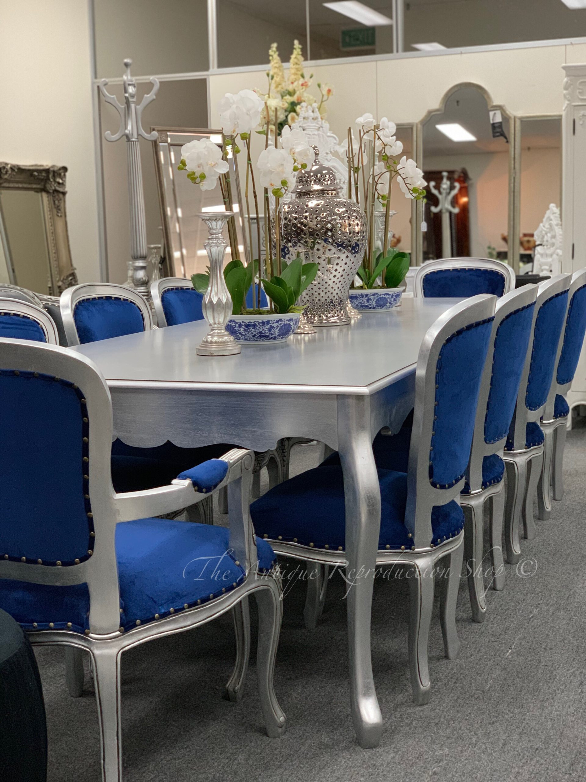 Antique French Provincial Dining Room Furniture Luxury French Provincial Plain Style Dining Table and Chairs Set