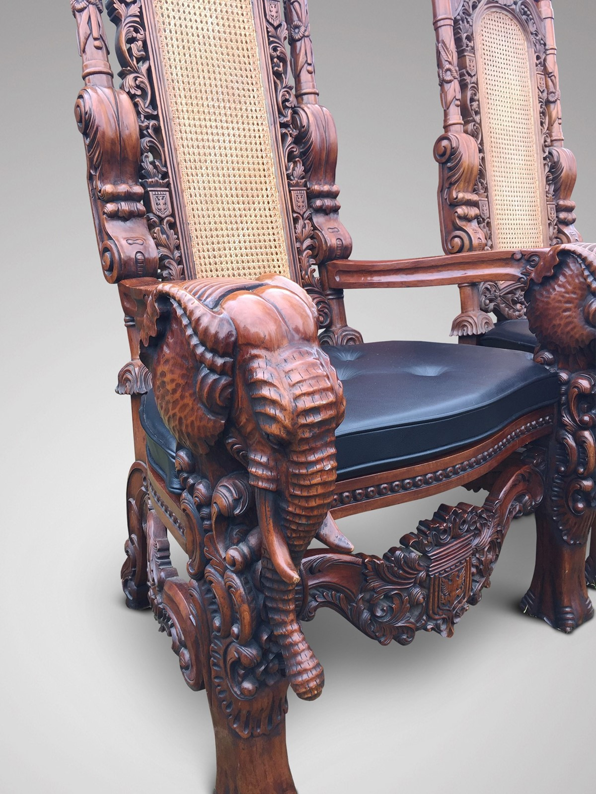 Antique Furniture Buyers Directory Inspirational Pair Of Carved Elephant Throne Chairs Decorative Collective
