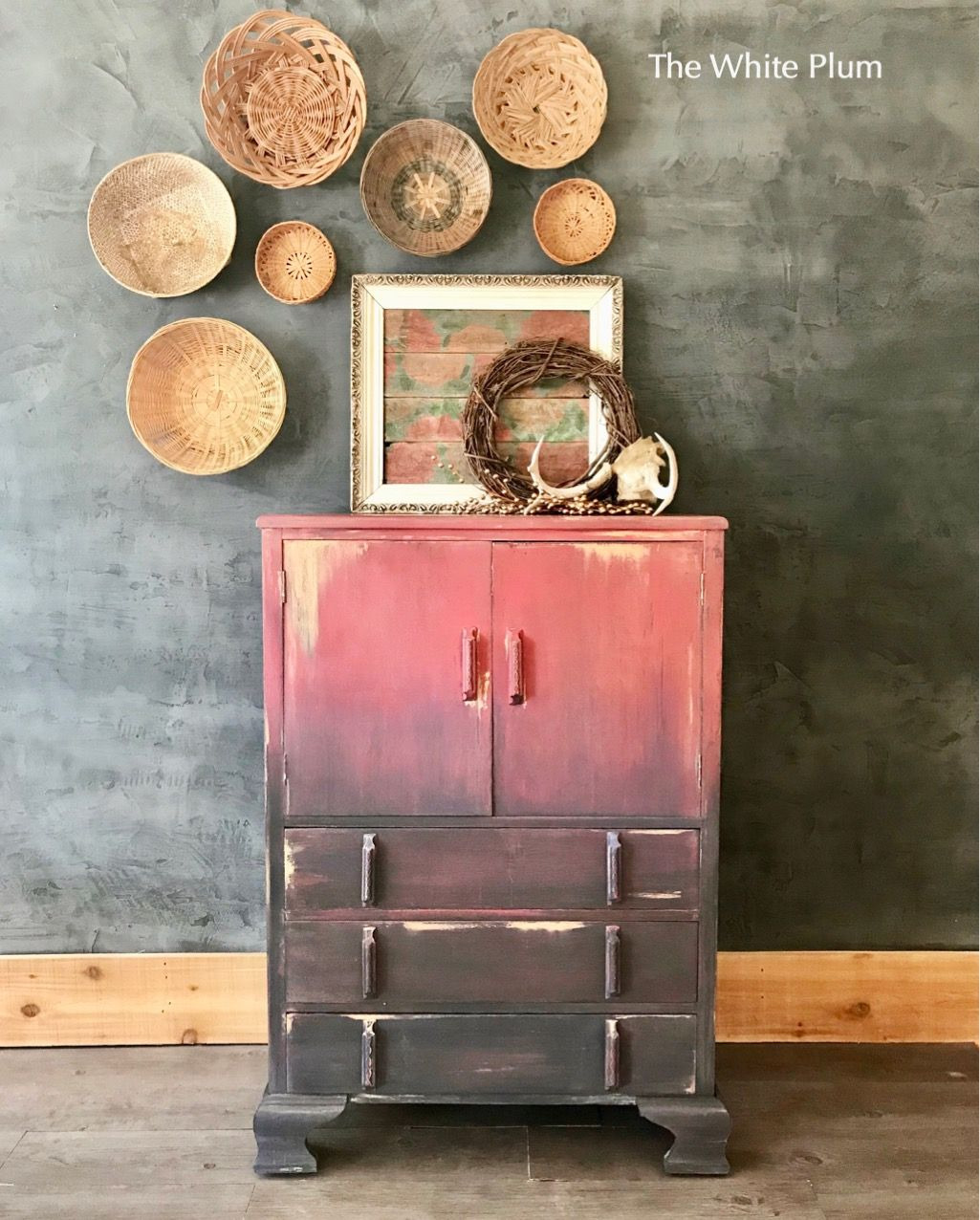 rustic boho antique cabi painted in annie sloan chalk paint upcycled furniture near me upcycled furniture nyc