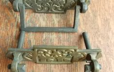 Antique Furniture Drawer Pulls Awesome Details About Two Antique Vintage Fancy Cast Brass Clover Leaf Drawer Pulls W Bails C1900