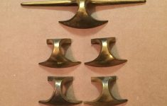 Antique Furniture Drawer Pulls Inspirational 6 Antique Mid Century Modern Space Age Brass Pulls Handle