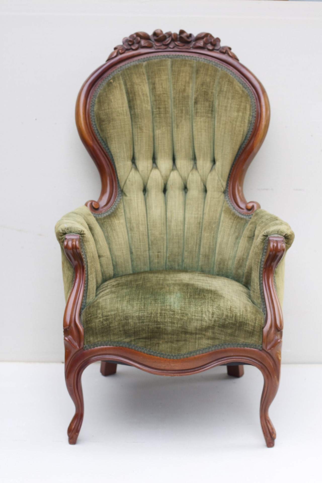 attractive vintage upholstered chair antique style furniture ebay rocking dining
