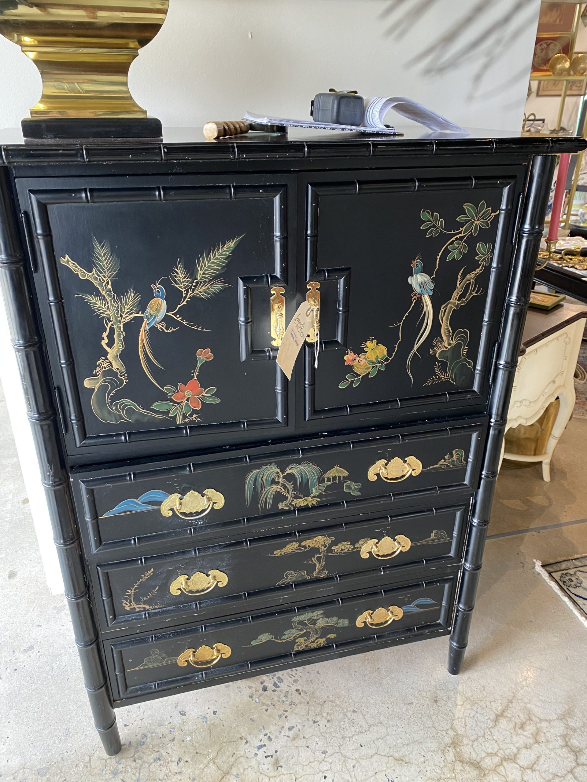 Asian tall highboy bar cabinet scaled